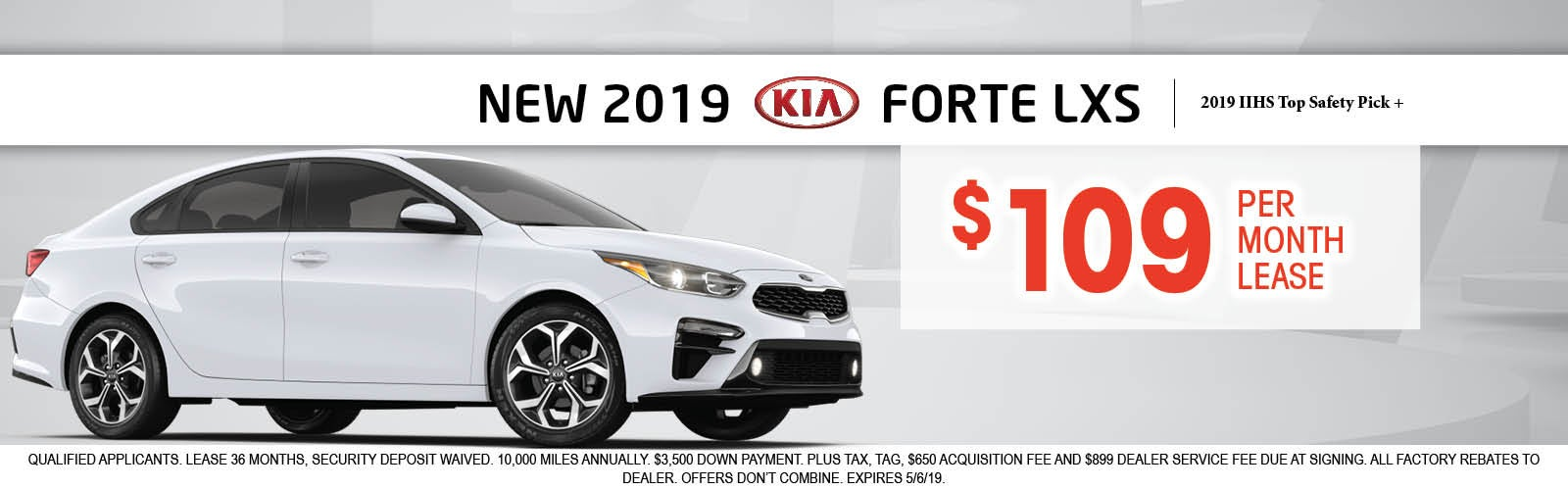Disclaimer Lease A New Kia Forte Lxs For 109 Per Month