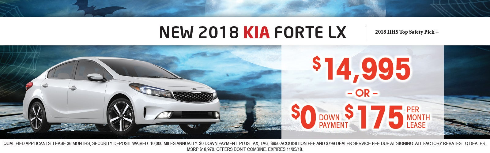 2018 Forte LX Special  50 To Choose From Only At Sunset Kia Of Sarasota!